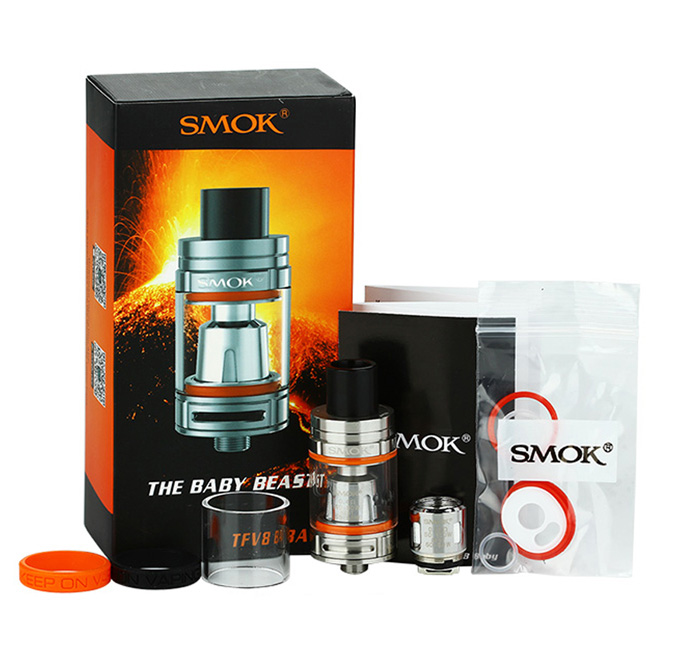 Smok TFV8 Baby Beast Tank in steel, 3ml