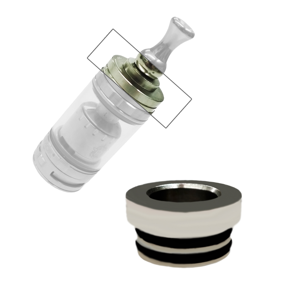 510er Drip Tip Adapter in steel für TFV8 & Big Baby