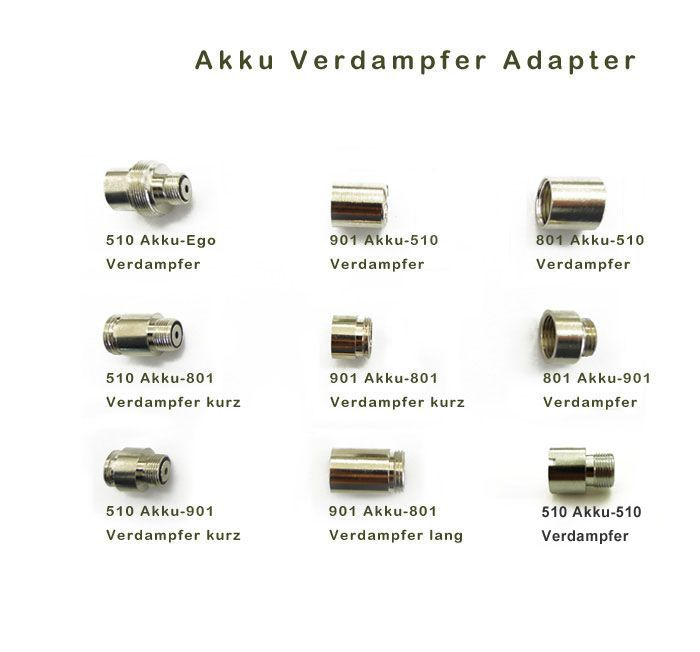 Akku Verdampfer Adapter